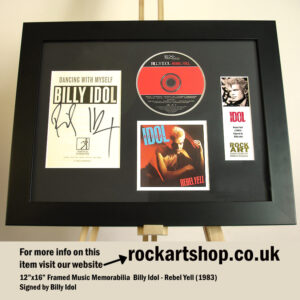 BILLY IDOL SIGNED REBEL YELL AUTOGRAPHED GENERATION X PUNK