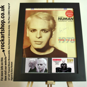 GARY NUMAN SIGNED THE PLAN VINYL AUTOGRAPHED TUBEWAY ARMY