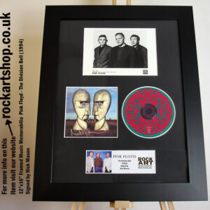 PINK FLOYD THE DIVISION BELL NICK MASON SIGNED MUSIC MEMORABILIA
