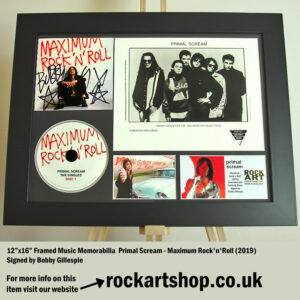 PRIMAL SCREAM SIGNED BOBBY GILLESPIE AUTOGRAPHED LOADED