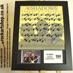 THE SHADOWS SIGNED HANK MARVIN +BRUCE WELCH +BRIAN BENNETT