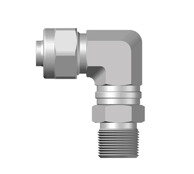 PNO-Taper Male Swivel Elbow