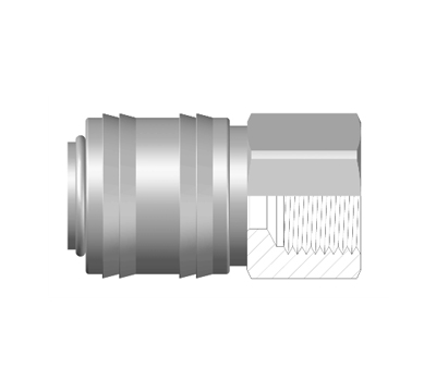 Female Coupler, BSP, BSPT,  and NPT pipe thread