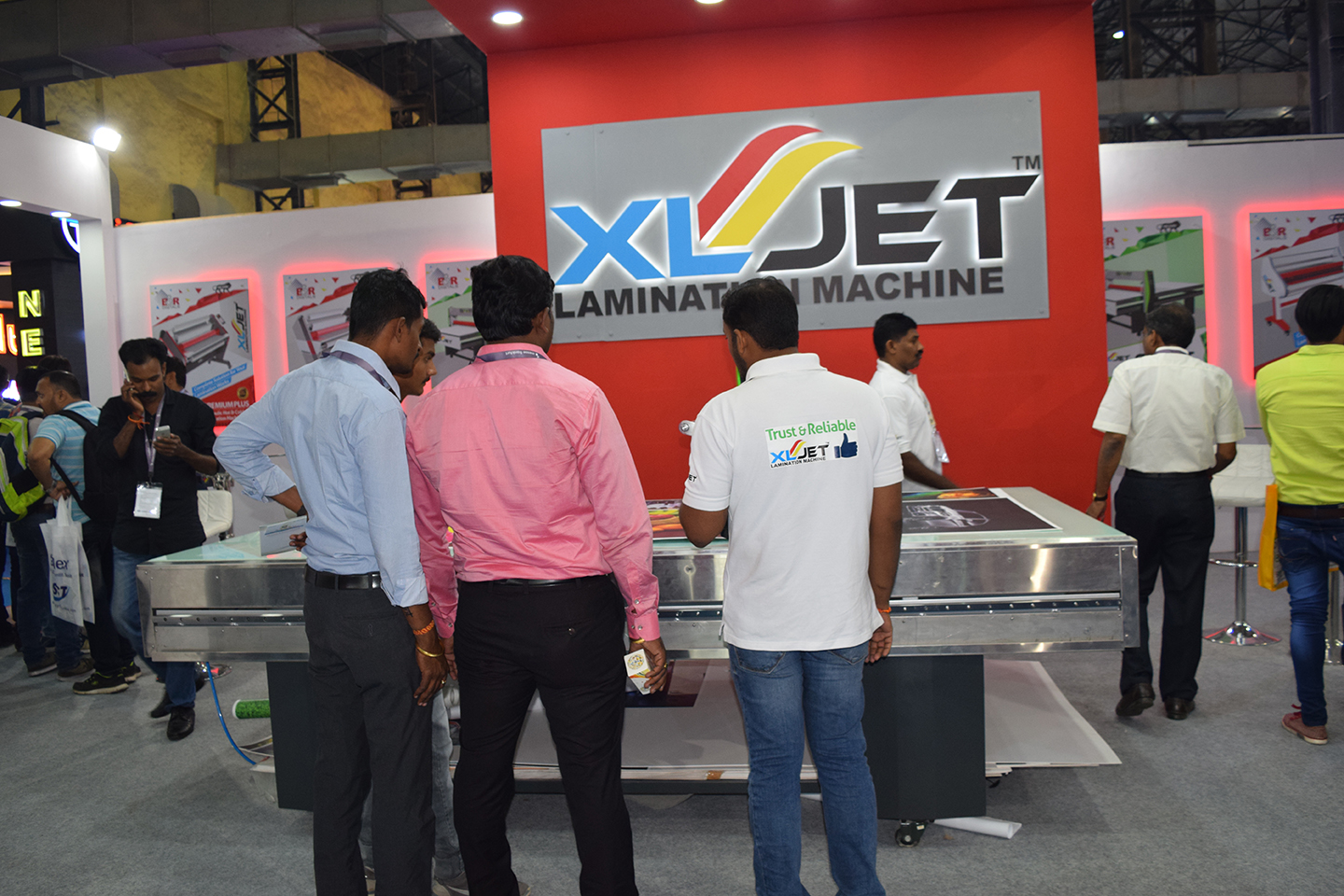 xljet lamination machine, lamination machines, b&r digitals, media expo