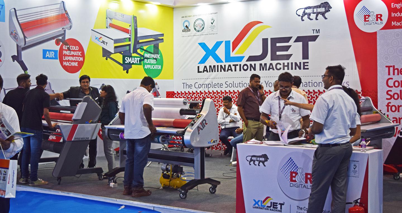 xljet lamination machine, lamination machines, b&r digitals, media expo