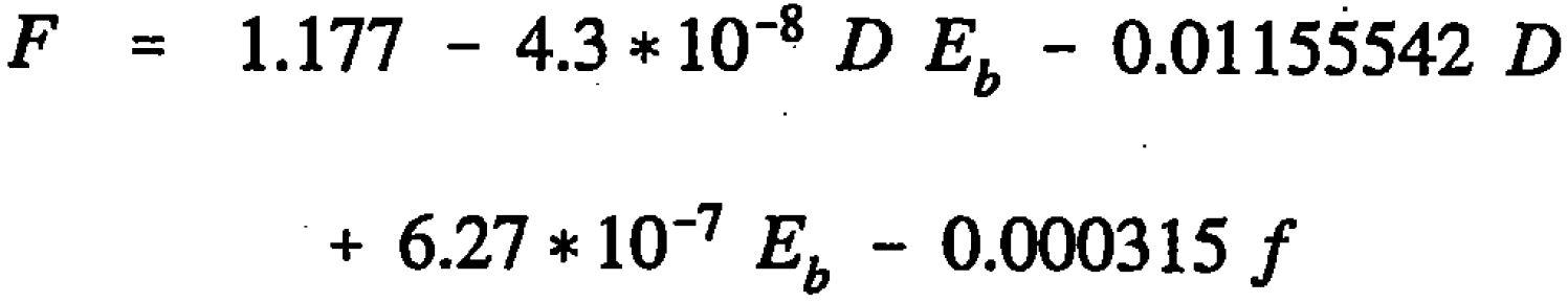 AASHTO Rigid Pavement Design Spreadsheet - Friction Coefficient Equation