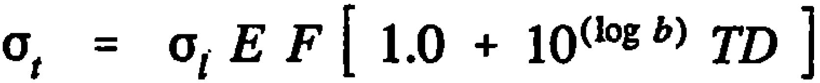 AASHTO Rigid Pavement Design Spreadsheet - Mid Slab Tensile Stress Equation