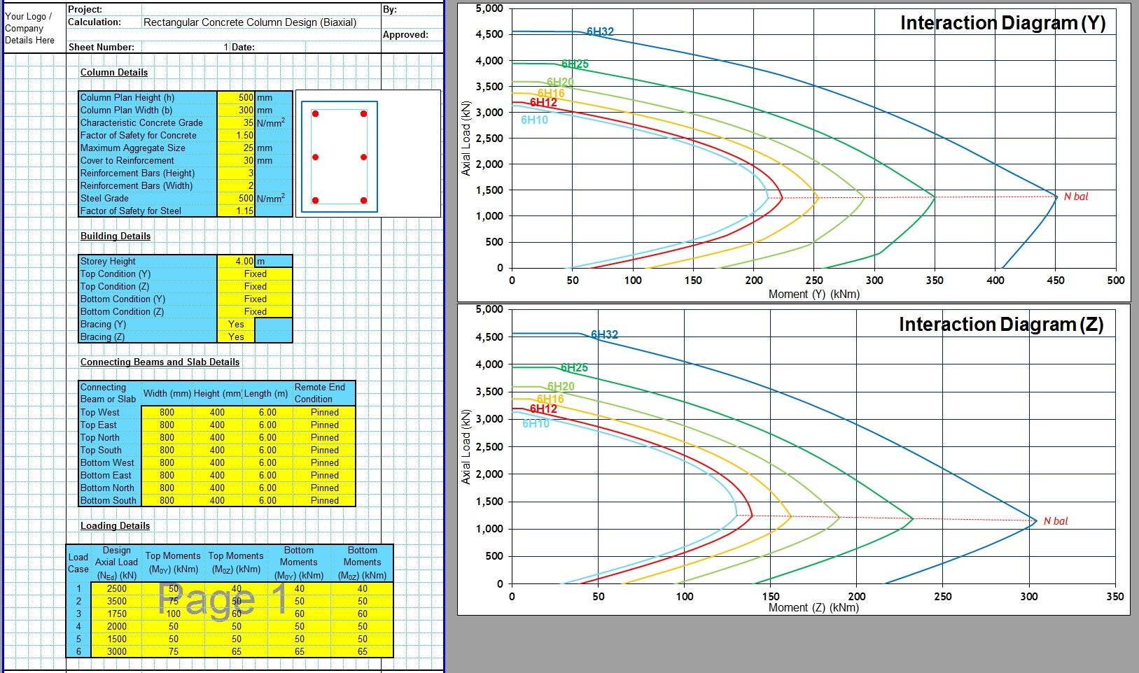 Biaxial Column Design XLS1