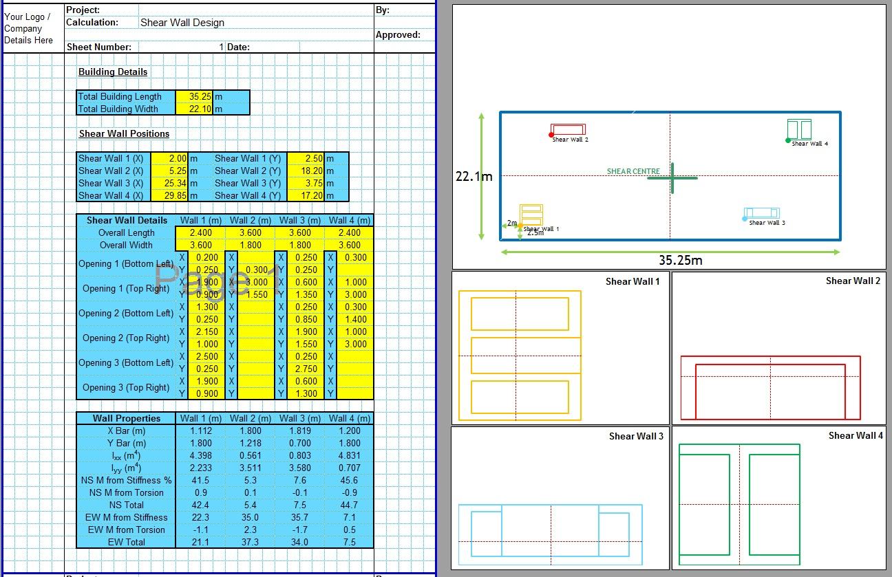 Concrete Shear Wall Design Spreadsheet1