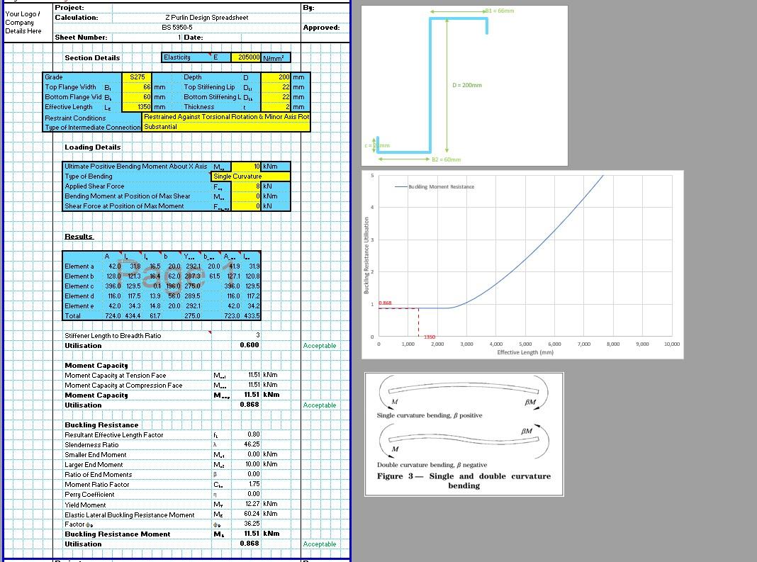 Z Purlin Design Spreadsheet1