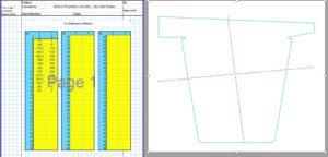 Built Up Section Properties Calculator Spreadsheet - Solid1