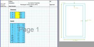 RHS Section Properties Calculator - Built Up RHS