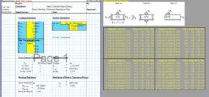 Steel Beam Design Spreadsheet - T Section 1