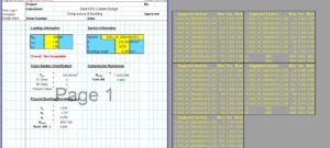 Steel Column Design Spreadsheet - EHS1