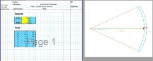 Tube Moment of Inertia Calculator - Hollow Circle Sector
