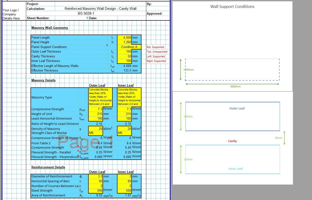 Reinforced Masonry Wall Design Spreadsheet 05