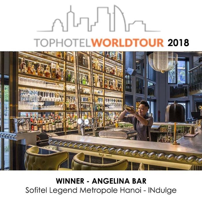 TOP HOTEL AWARD 2018 ANGELINA BAR 2018