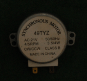 MICROWAVE TURN TABLE GLASS MOTOR 21 VOLT