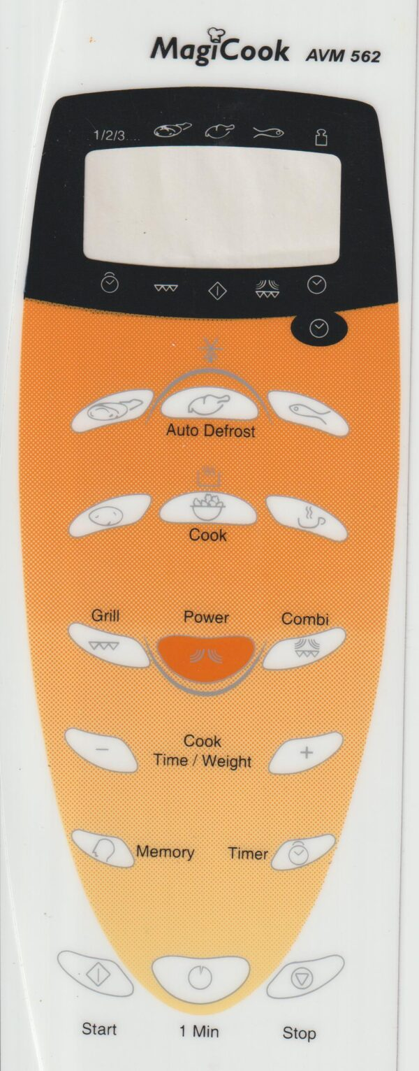 Microwave Oven Membrane Keypad Suitable for Whirlpool