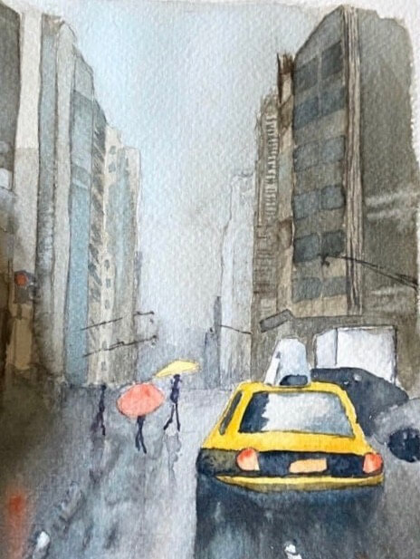 06: Watercolour painting made during lockdown