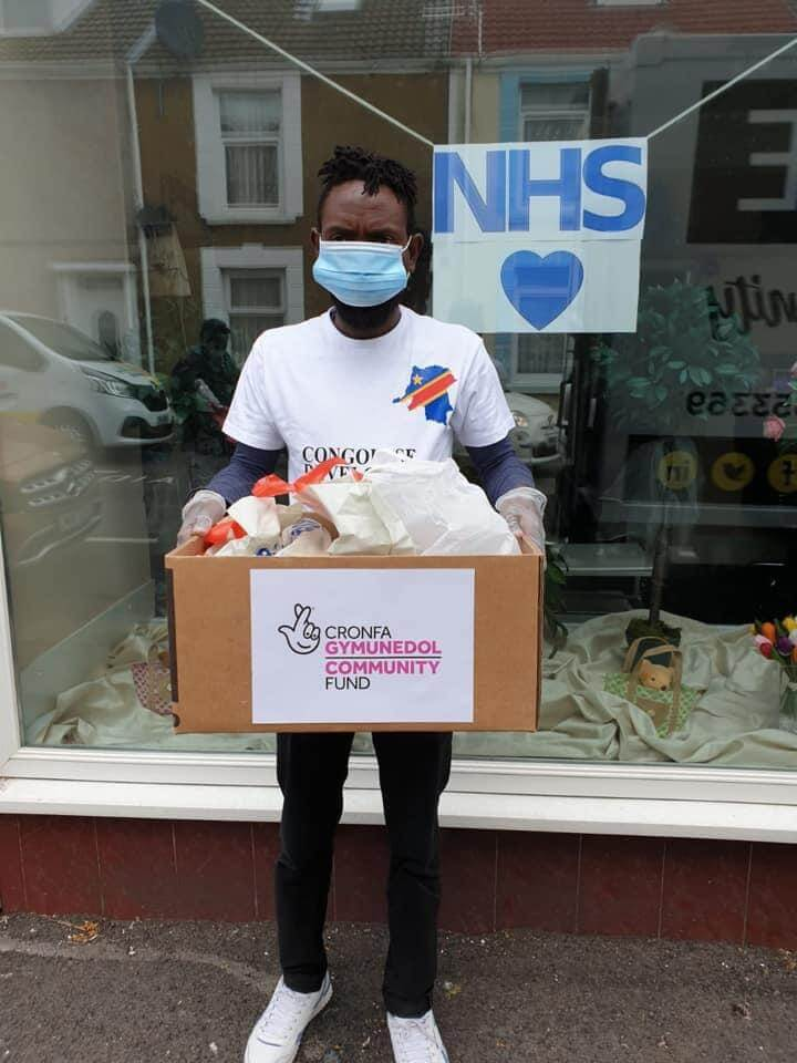 05: Documenting the voluntary work of asylum seekers helping and supporting others during lockdown by delivering food parcels to other asylum seeking families
