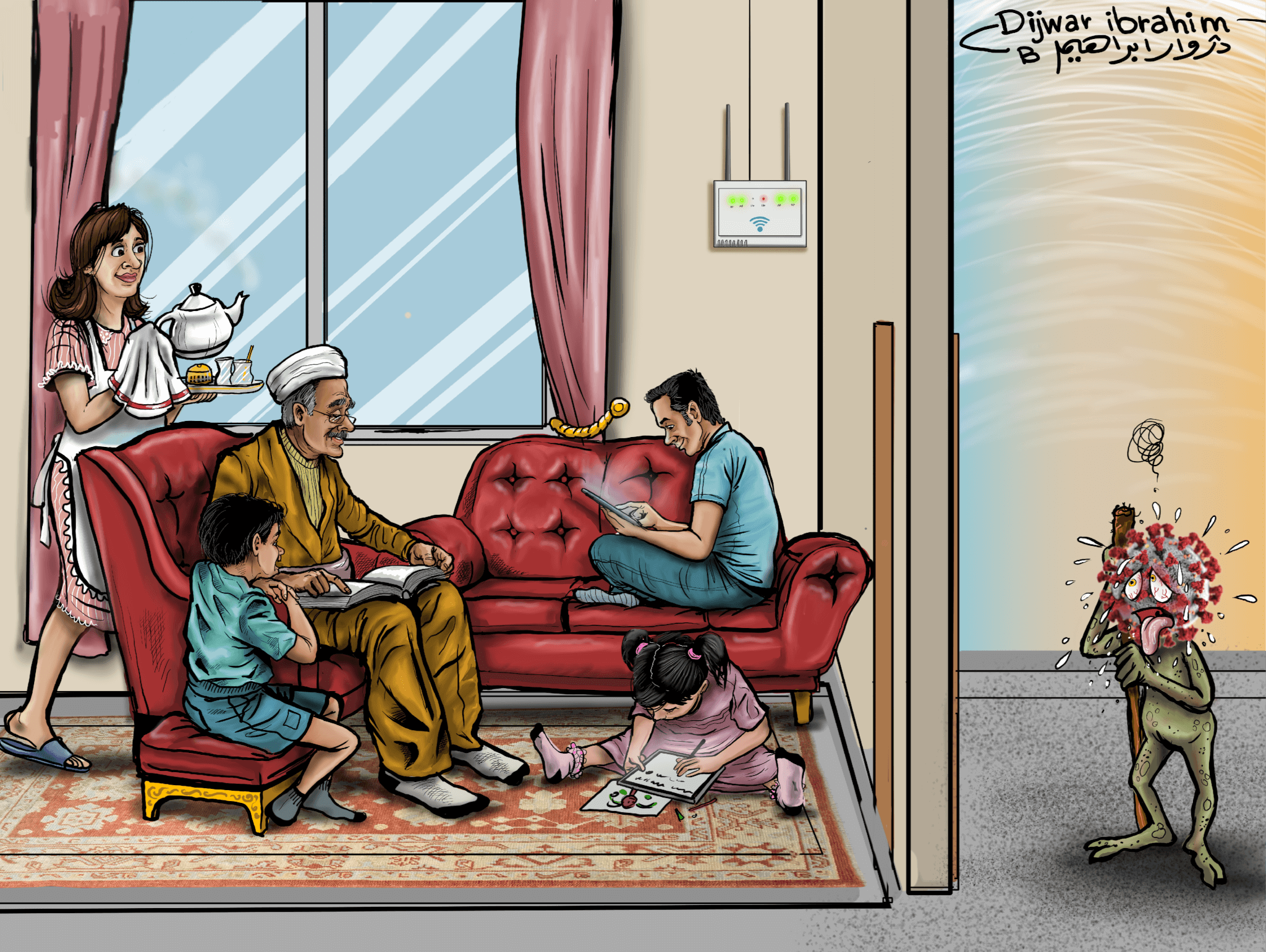 13: Staying at Home Protects All, by Dijwar Ibrahim