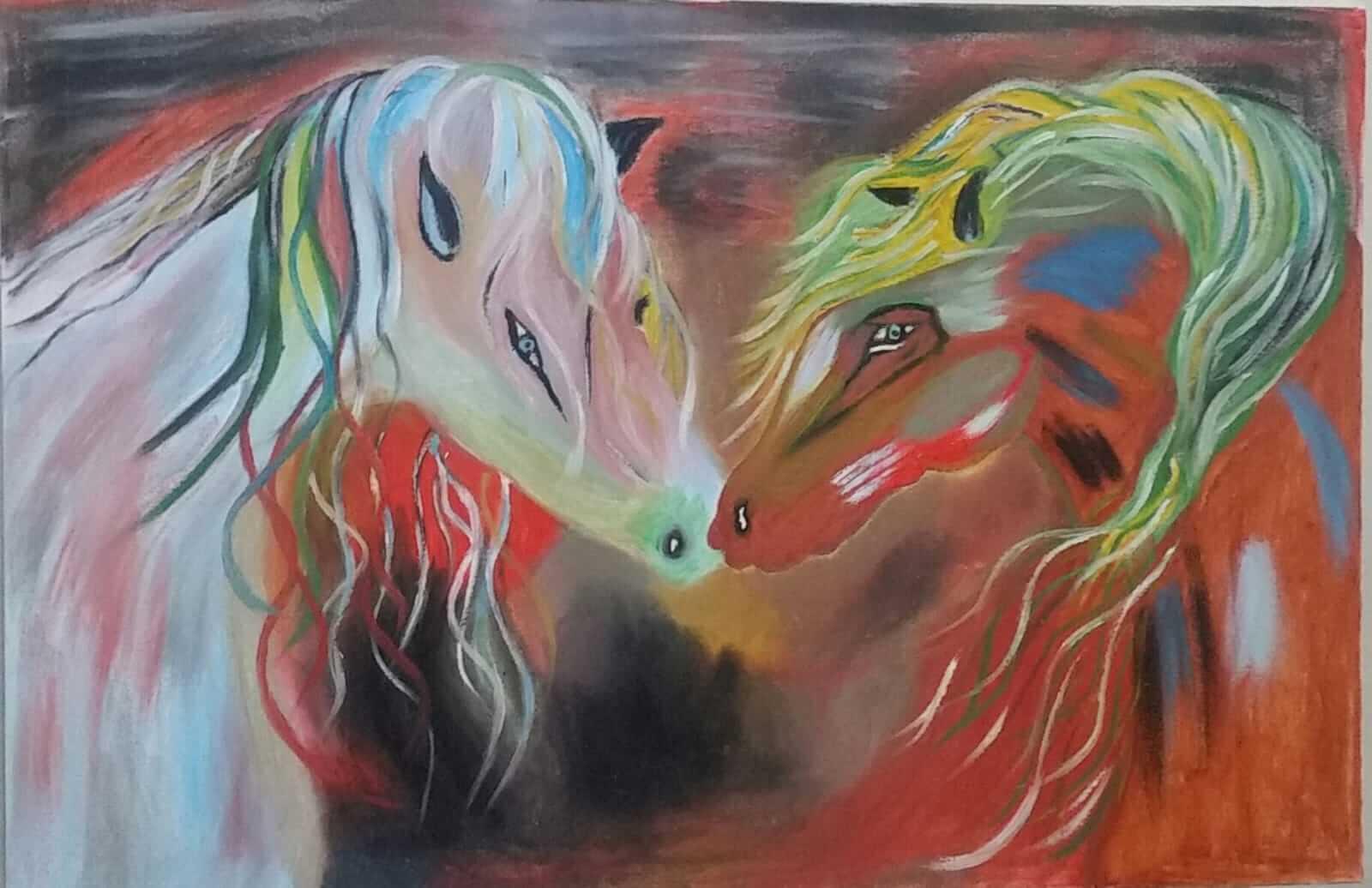 10: Loving Horses, by Mansoureh (Mahsah) Koohnab