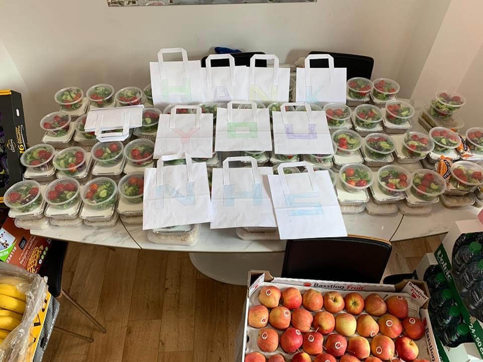 09: Members of the Kurdish community in Oxford prepare and deliver 60 packed lunches for local NHS staff