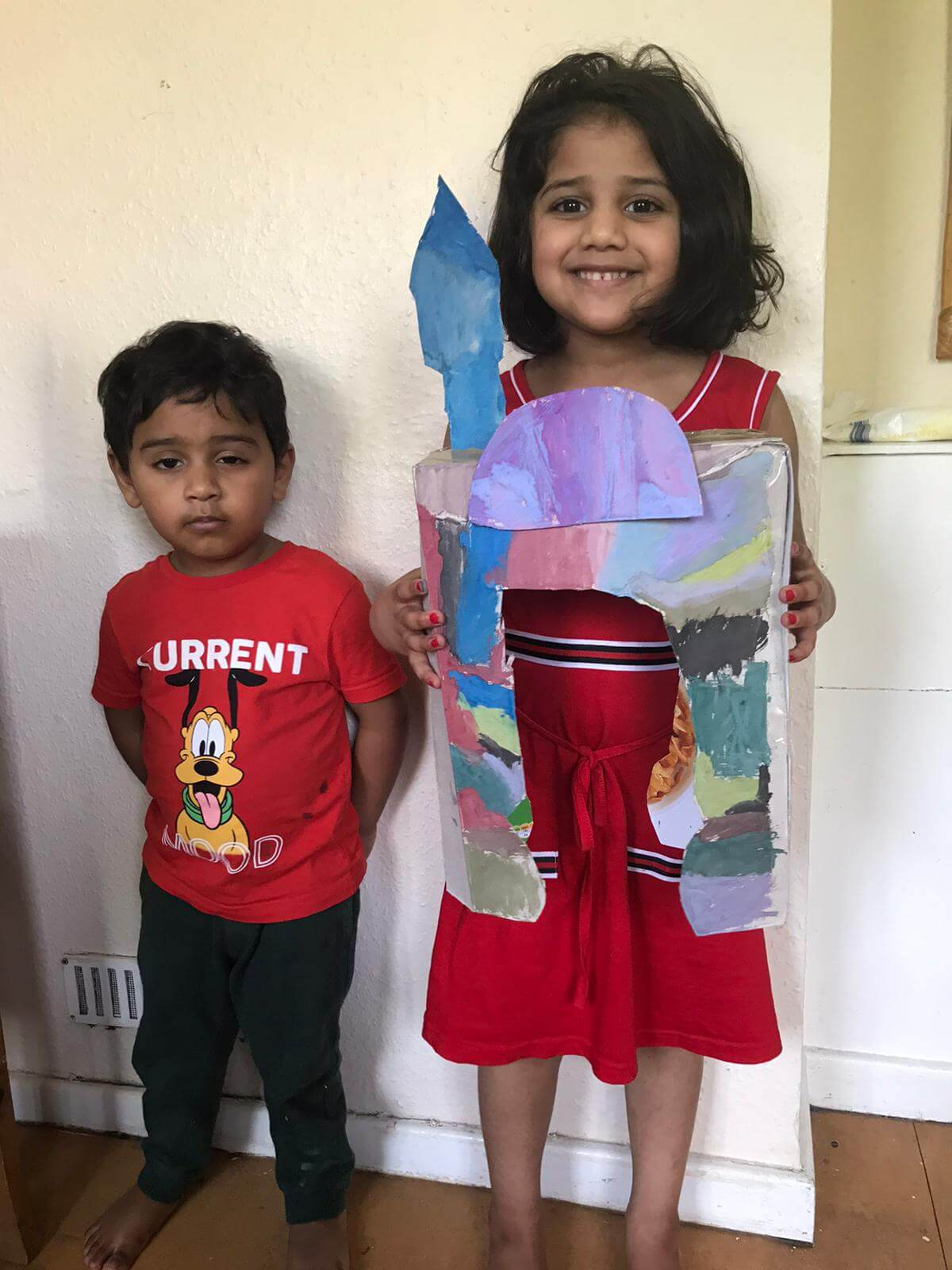 02: During Ramadan under lockdown a brother and sister in Wales were unable to visit the mosque, so made their own at home out of cardboard boxes