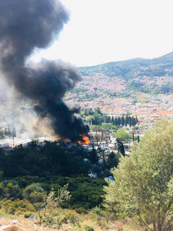 04: Fire at Samos refugee camp, Greece, May 2020