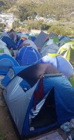 11: Tents at Samos refugee camp, Greece, May 2020