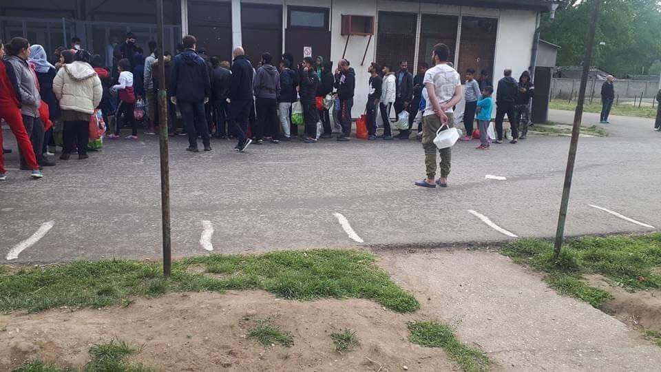 08: Social distancing at Krnjaca Asylum Centre, Serbia, May 2020