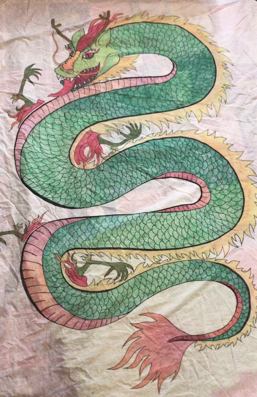 04: A banner made by a member of Swansea Women's Group for the Chinese New Year festival which was cancelled due to the pandemic