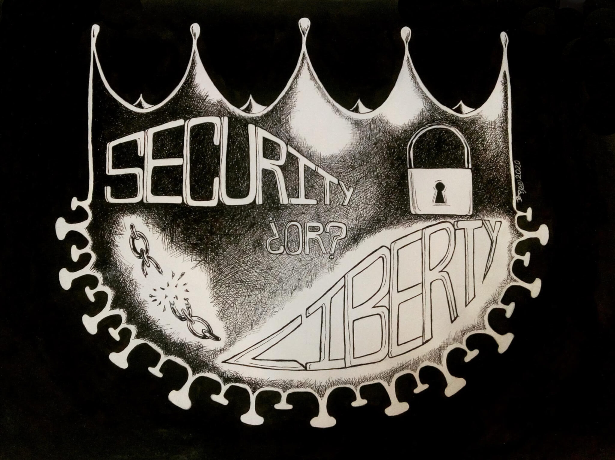 10: Security or Liberty?, by Deborah Garcia