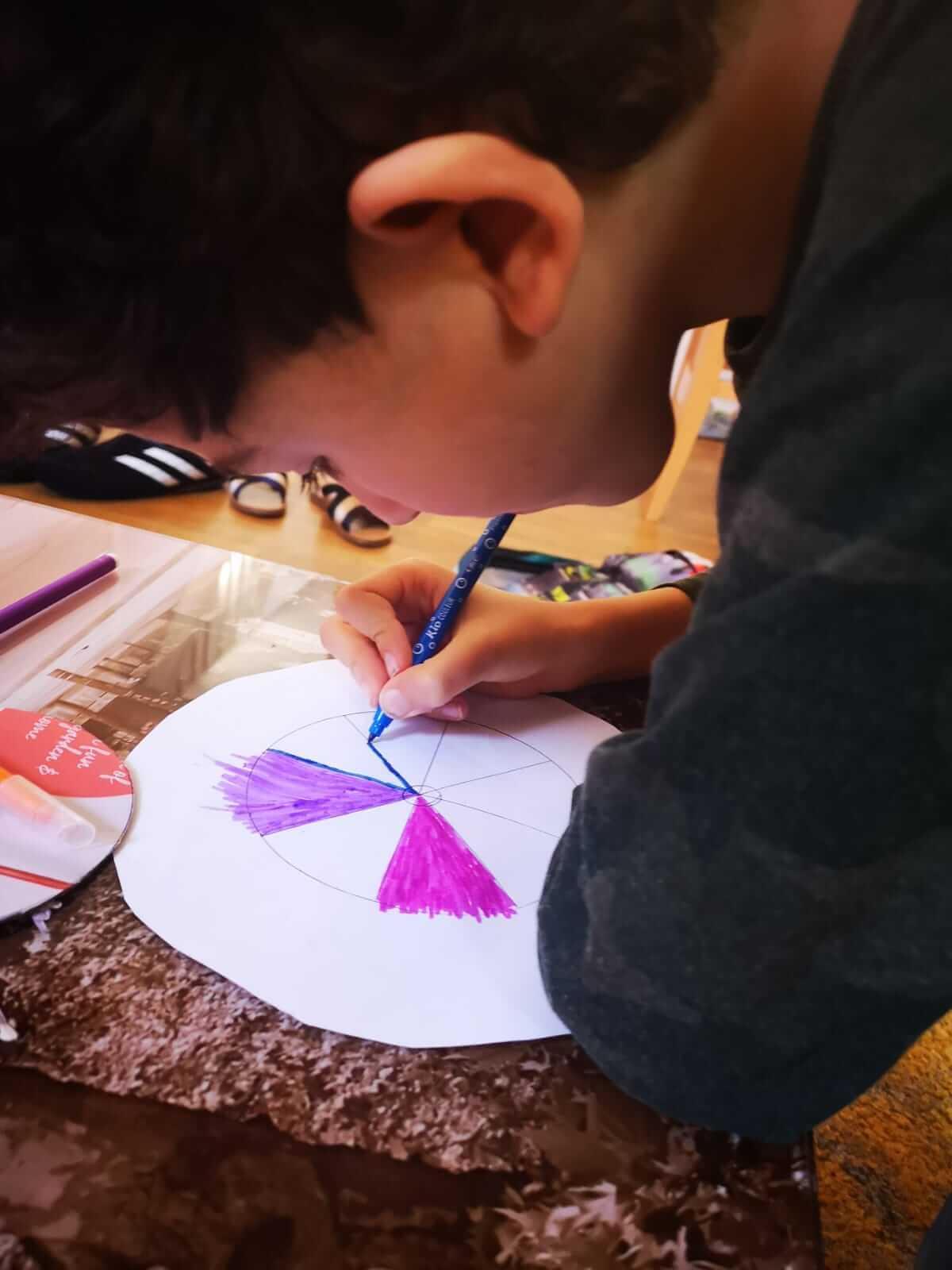 13: Two boys explore craft under lockdown.