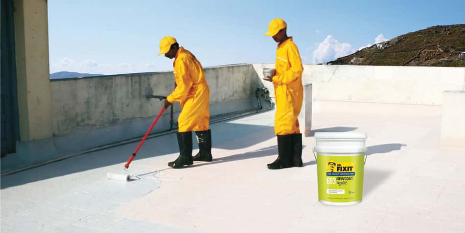 Water proofing using Dr.Fixit