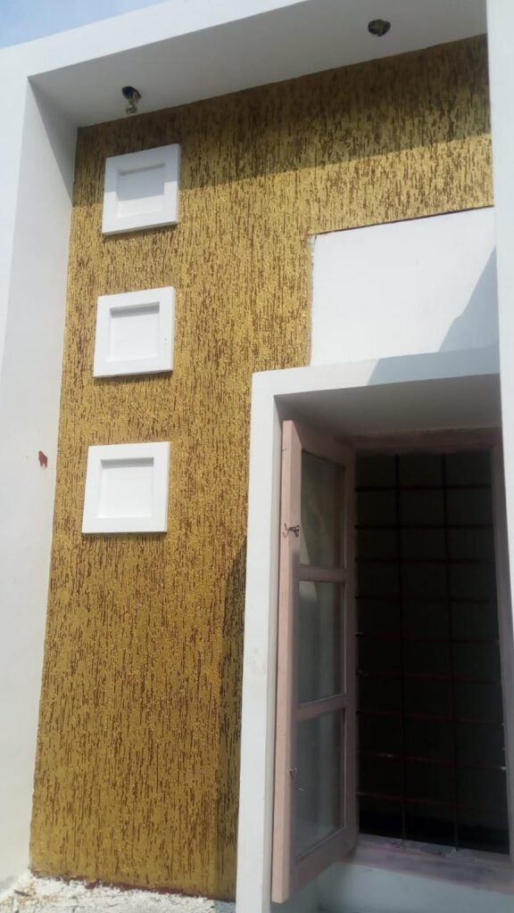 Exterior textured wall simple