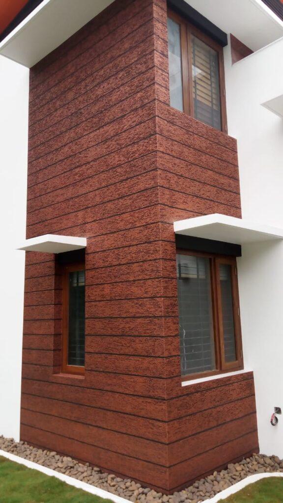 Exterior textured wall