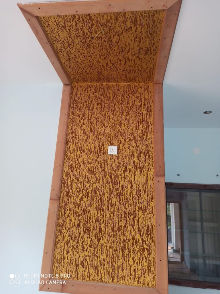 Textured wall partition