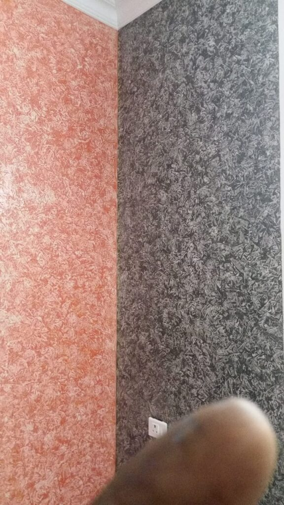 Textured wall multicolor