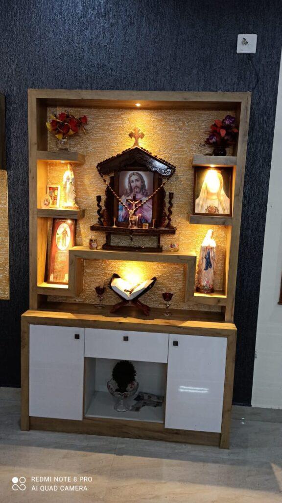 Textured wall prayer room