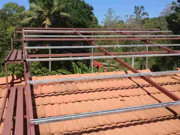 Mounting Structure Over Tile Roof