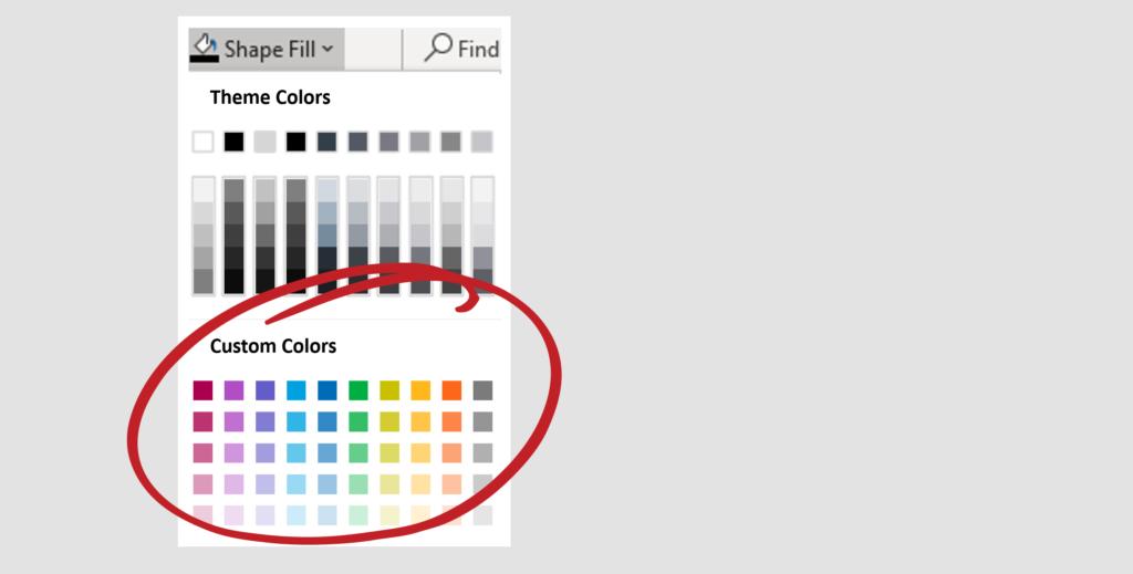 Secondary colour palette