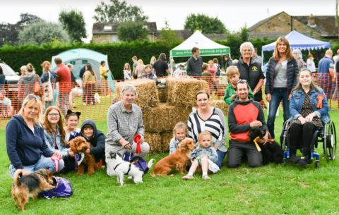 Burley in Wharfedale dog show - waggiest tail comp