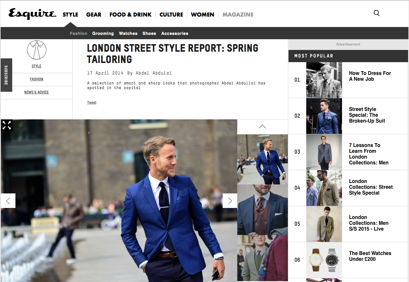 London Street Style Report: Spring Tailoring
