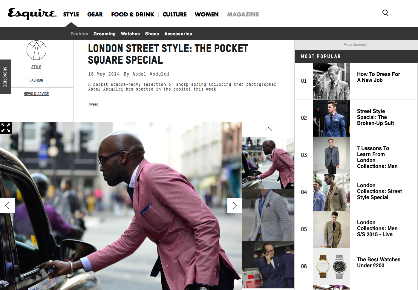 London Street Style: The Pocket Square Special