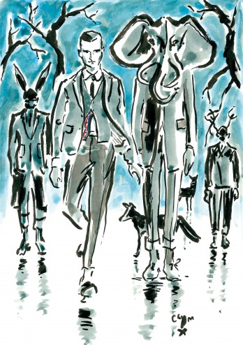 Clym Evernden, Thom Browne A/W 2014-15, Created for A Magazine Curated By (Belgium), 2014