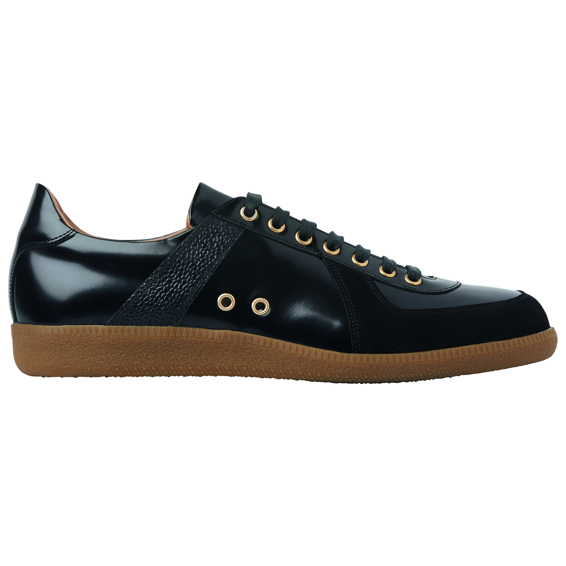 High Shine Leather Trainers (£89)