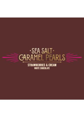 Willie's Cacao | Strawberries & Cream | Caramel Pearls 150g