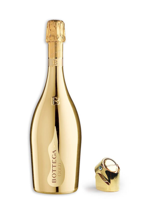 Bottega Gold Prosecco DOC 75CL with Gold Bottle Stopper | Keico Drinks